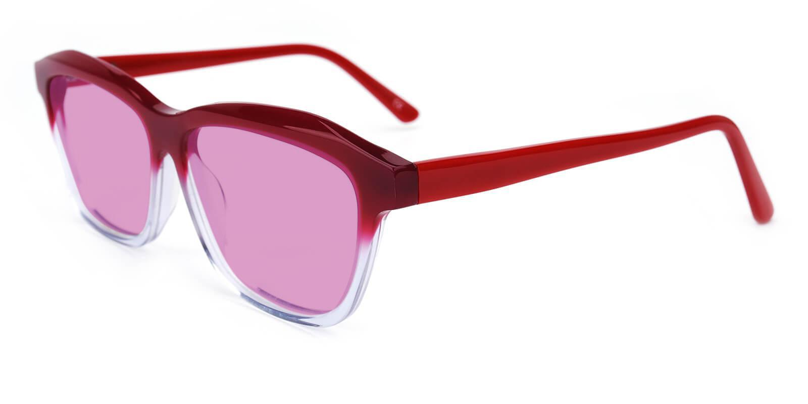 Morning Red Acetate SpringHinges , Sunglasses , UniversalBridgeFit Frames from ABBE Glasses