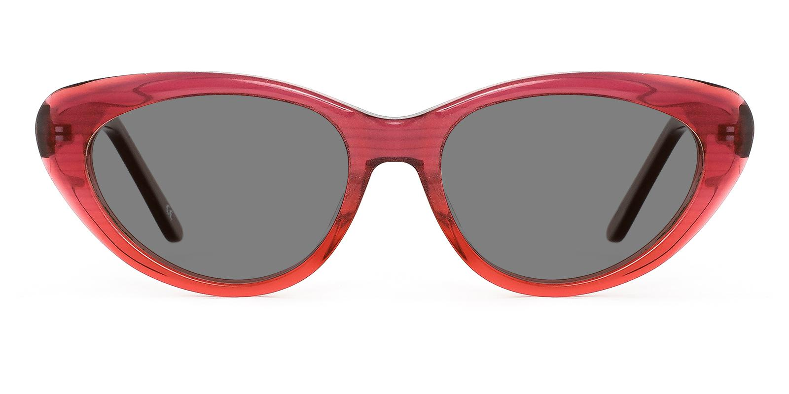 Botanist Red Acetate SpringHinges , Sunglasses , UniversalBridgeFit Frames from ABBE Glasses