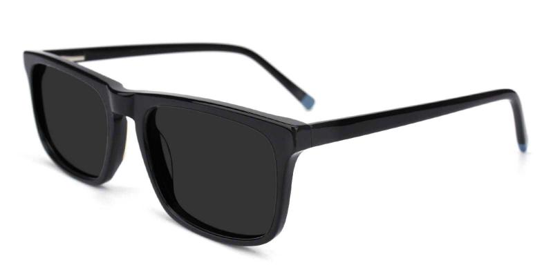 Black Intense - Acetate SpringHinges , Sunglasses , UniversalBridgeFit
