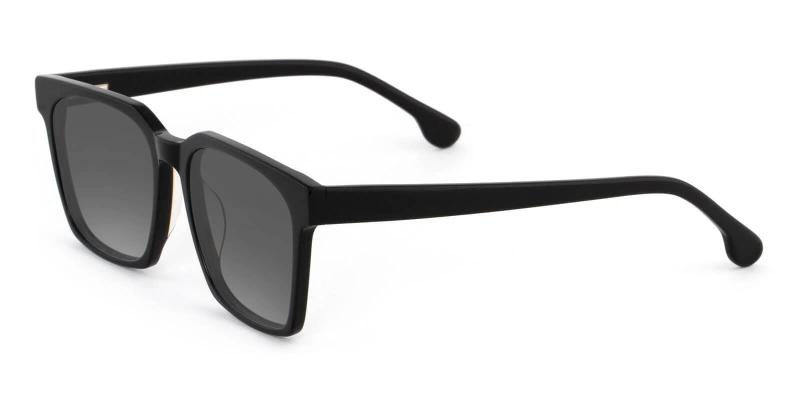 Black Nala - Acetate SpringHinges , Sunglasses , UniversalBridgeFit