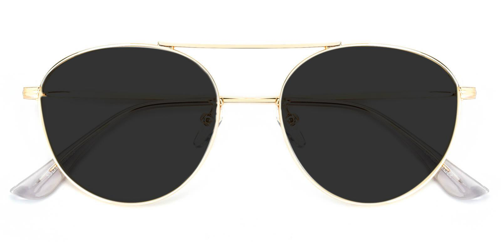 Cupertino Gold Metal NosePads , Sunglasses Frames from ABBE Glasses