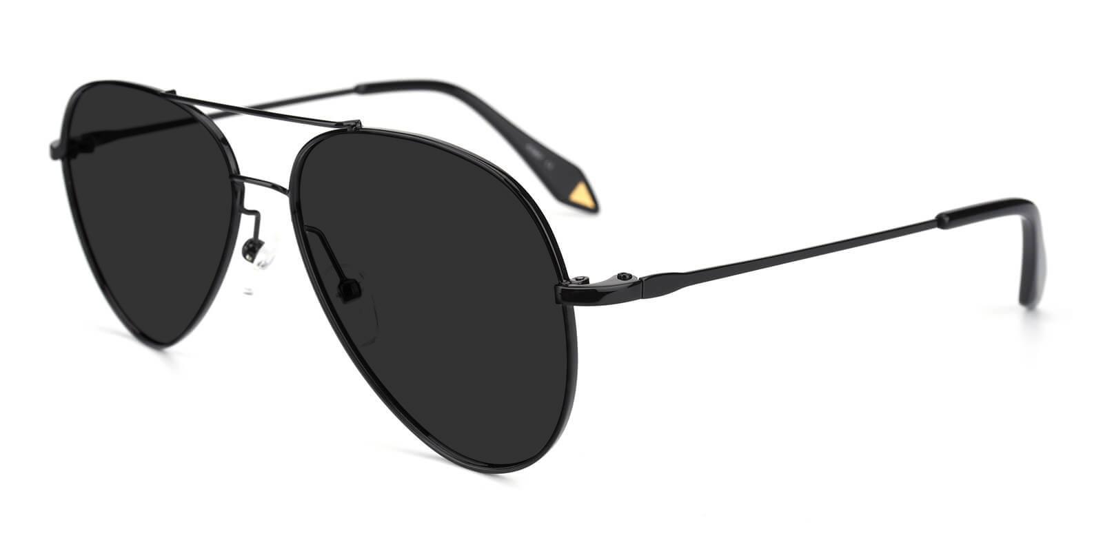 Dapper Black Metal NosePads , Sunglasses Frames from ABBE Glasses