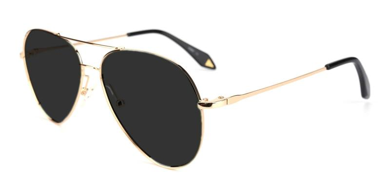 Gold Dapper - Metal ,Sunglasses