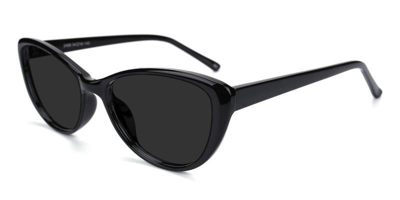 Black Morla - Plastic Sunglasses , UniversalBridgeFit