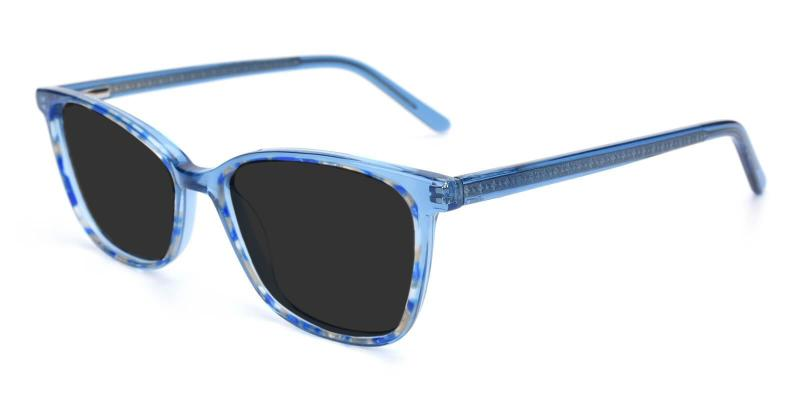 Blue Sweet - Acetate Sunglasses , UniversalBridgeFit