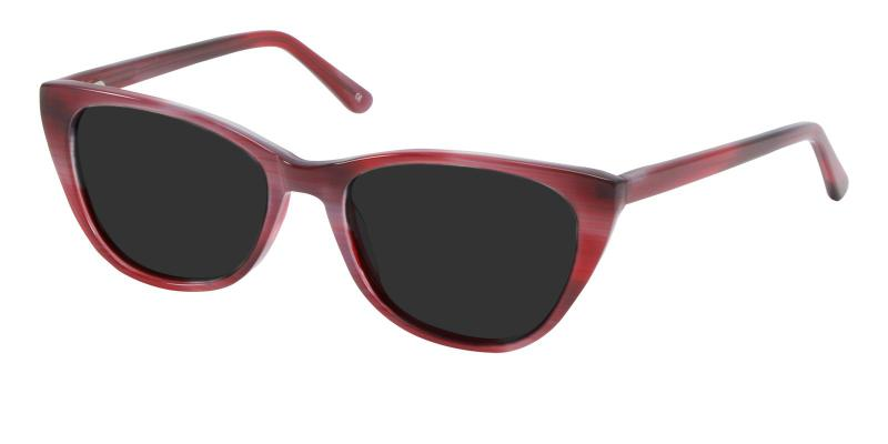 Red Ledger - Acetate SpringHinges , Sunglasses , UniversalBridgeFit