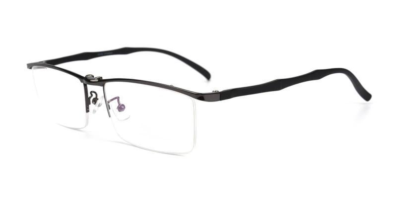 Gun Woodrow - Metal Eyeglasses , NosePads , SpringHinges