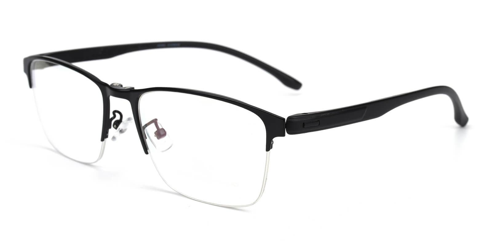 Ferrous Black Metal Eyeglasses , NosePads , SpringHinges Frames from ABBE Glasses