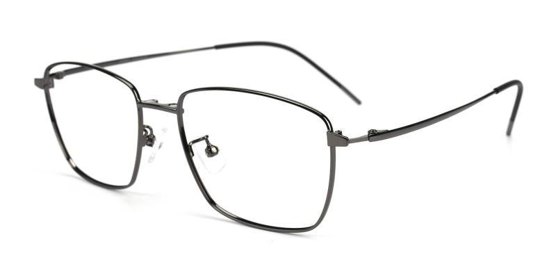 Gun Bezel - Metal Eyeglasses , NosePads , SpringHinges