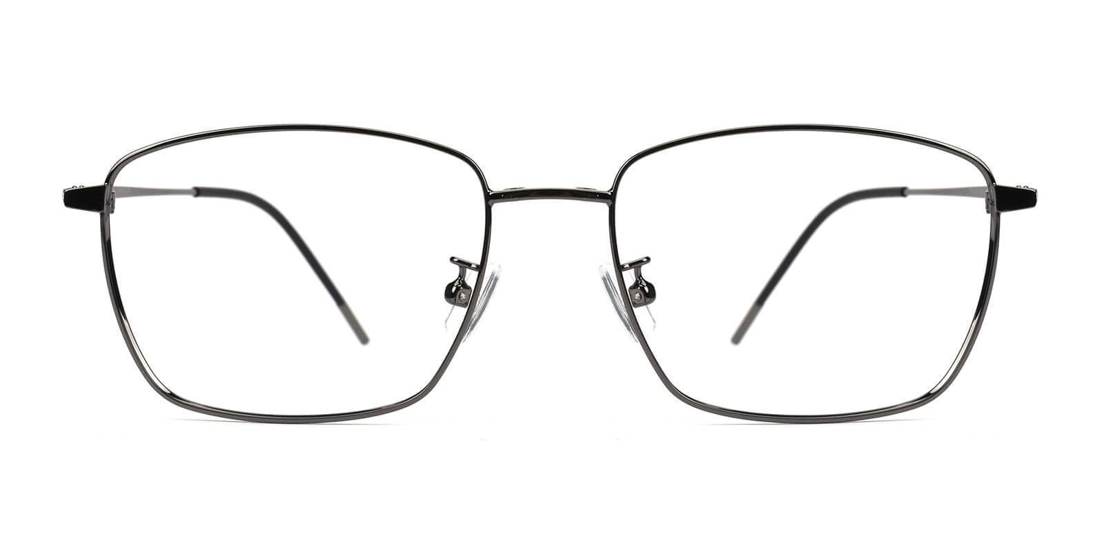 Bezel Gun Metal Eyeglasses , NosePads , SpringHinges Frames from ABBE Glasses