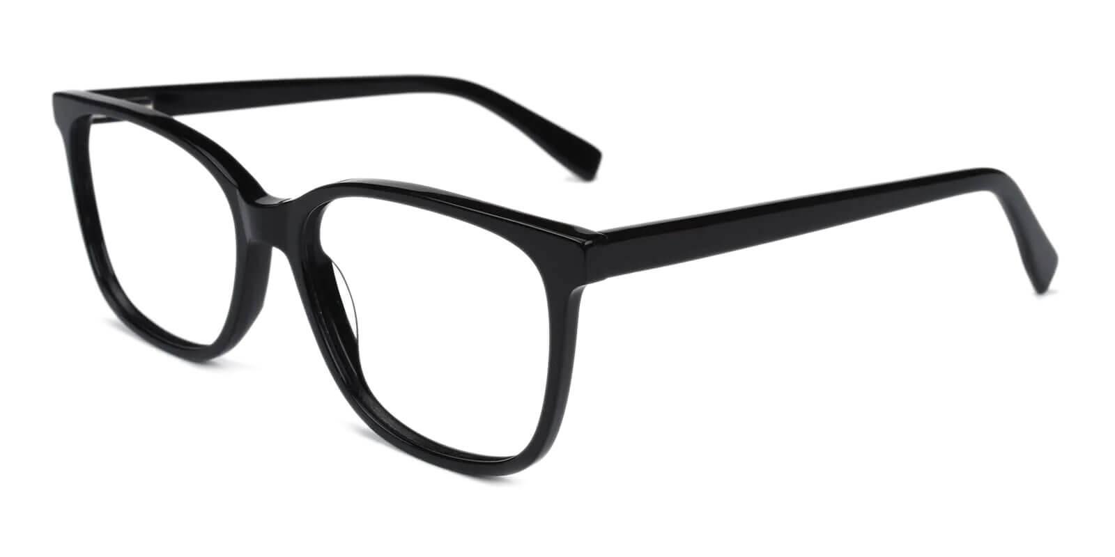 Groove Black Acetate Eyeglasses , SpringHinges , UniversalBridgeFit Frames from ABBE Glasses