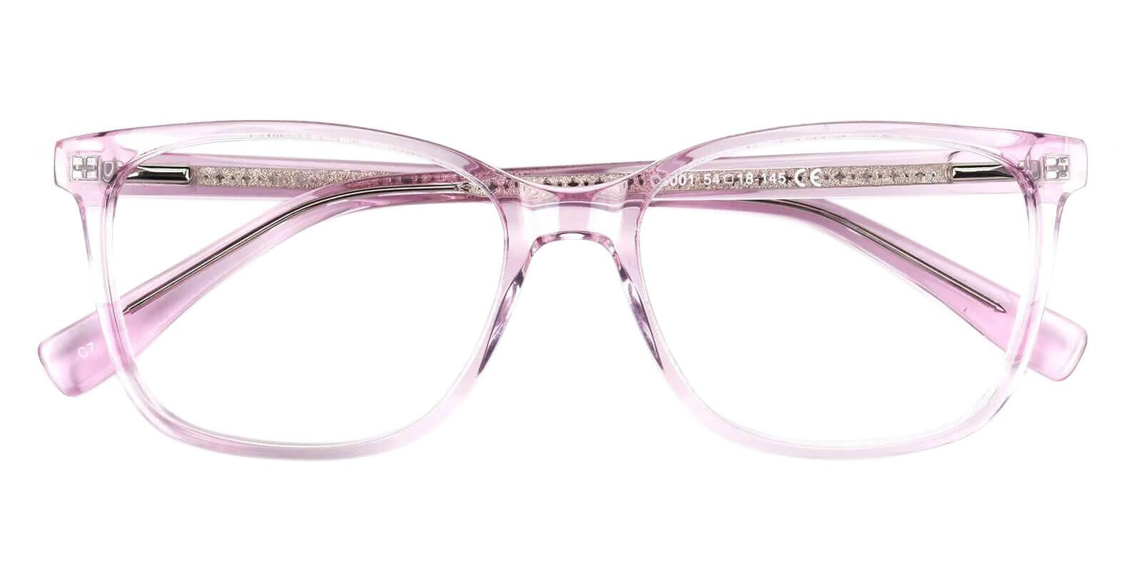 Groove Pink Acetate Eyeglasses , SpringHinges , UniversalBridgeFit Frames from ABBE Glasses