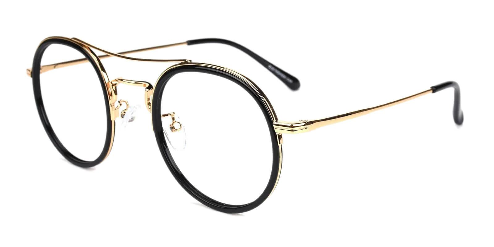 Coexist Gold Combination Eyeglasses , NosePads , SpringHinges Frames from ABBE Glasses
