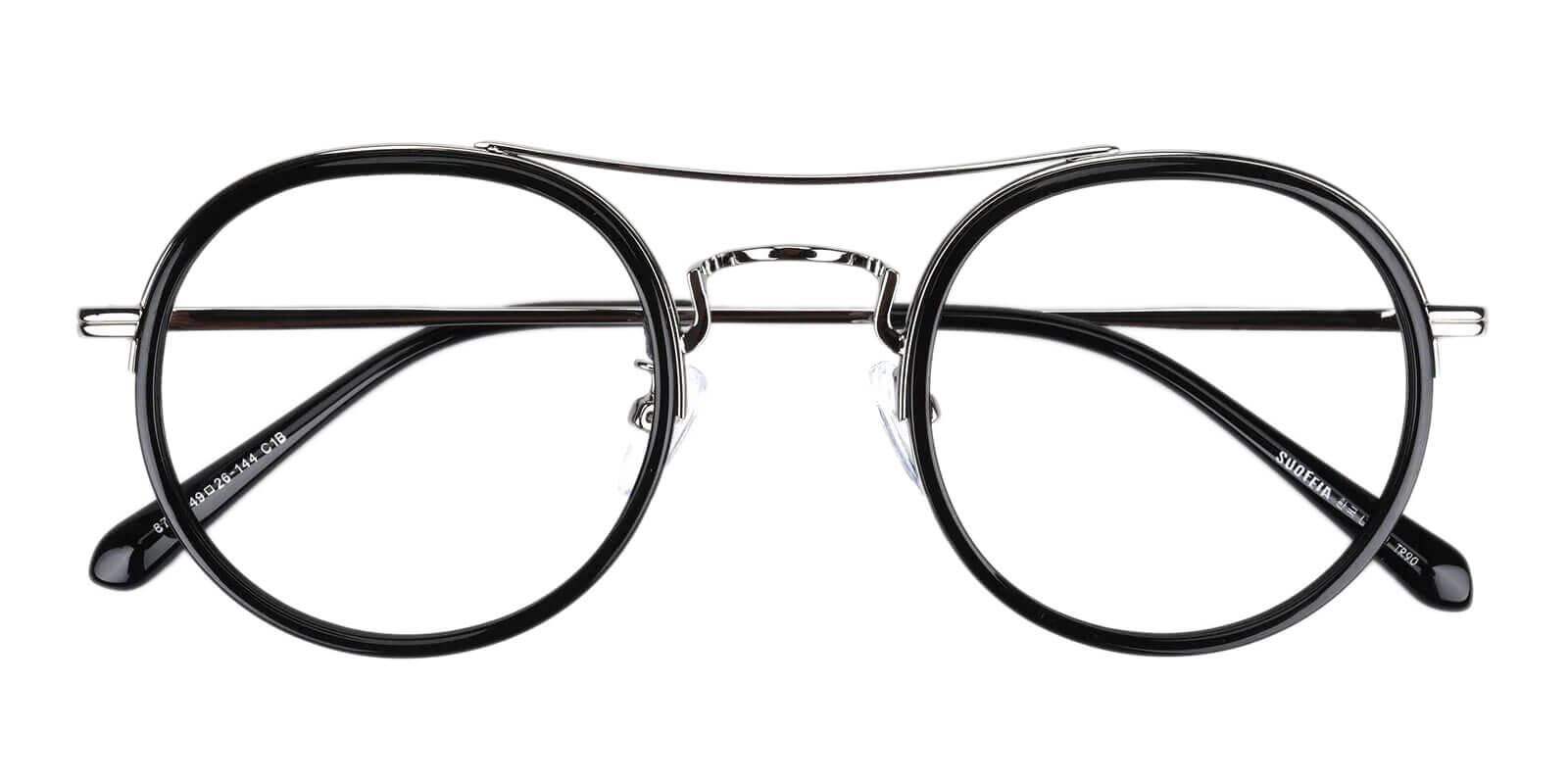 Coexist Silver Combination Eyeglasses , NosePads , SpringHinges Frames from ABBE Glasses