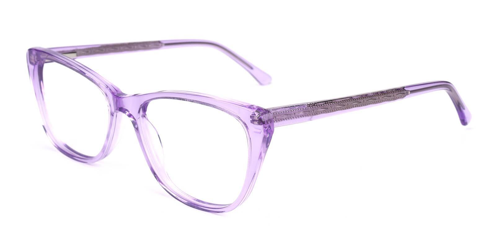 Yuke Purple Acetate Eyeglasses , SpringHinges , UniversalBridgeFit Frames from ABBE Glasses