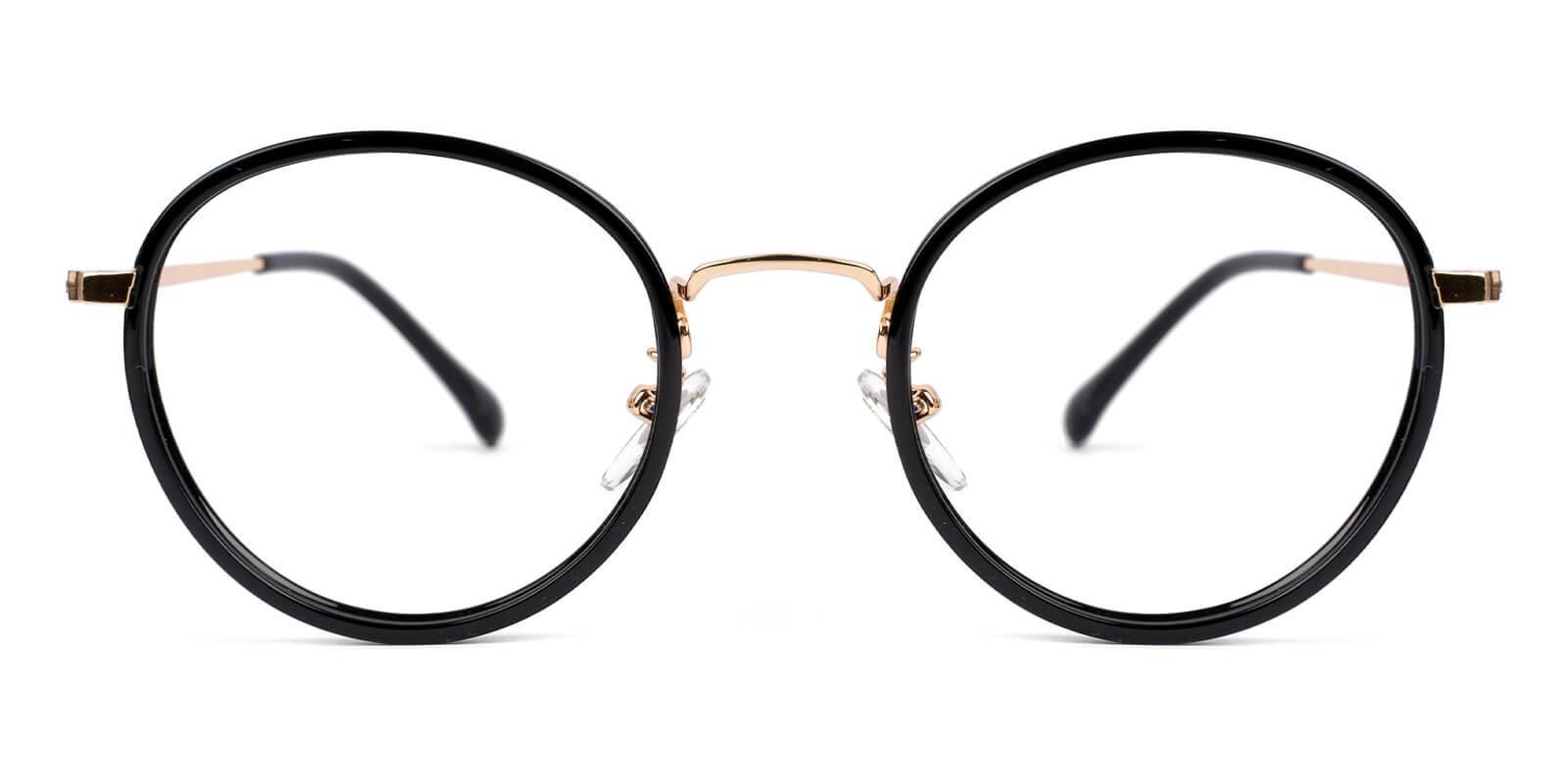 Modena Black Combination Eyeglasses , NosePads , SpringHinges Frames from ABBE Glasses