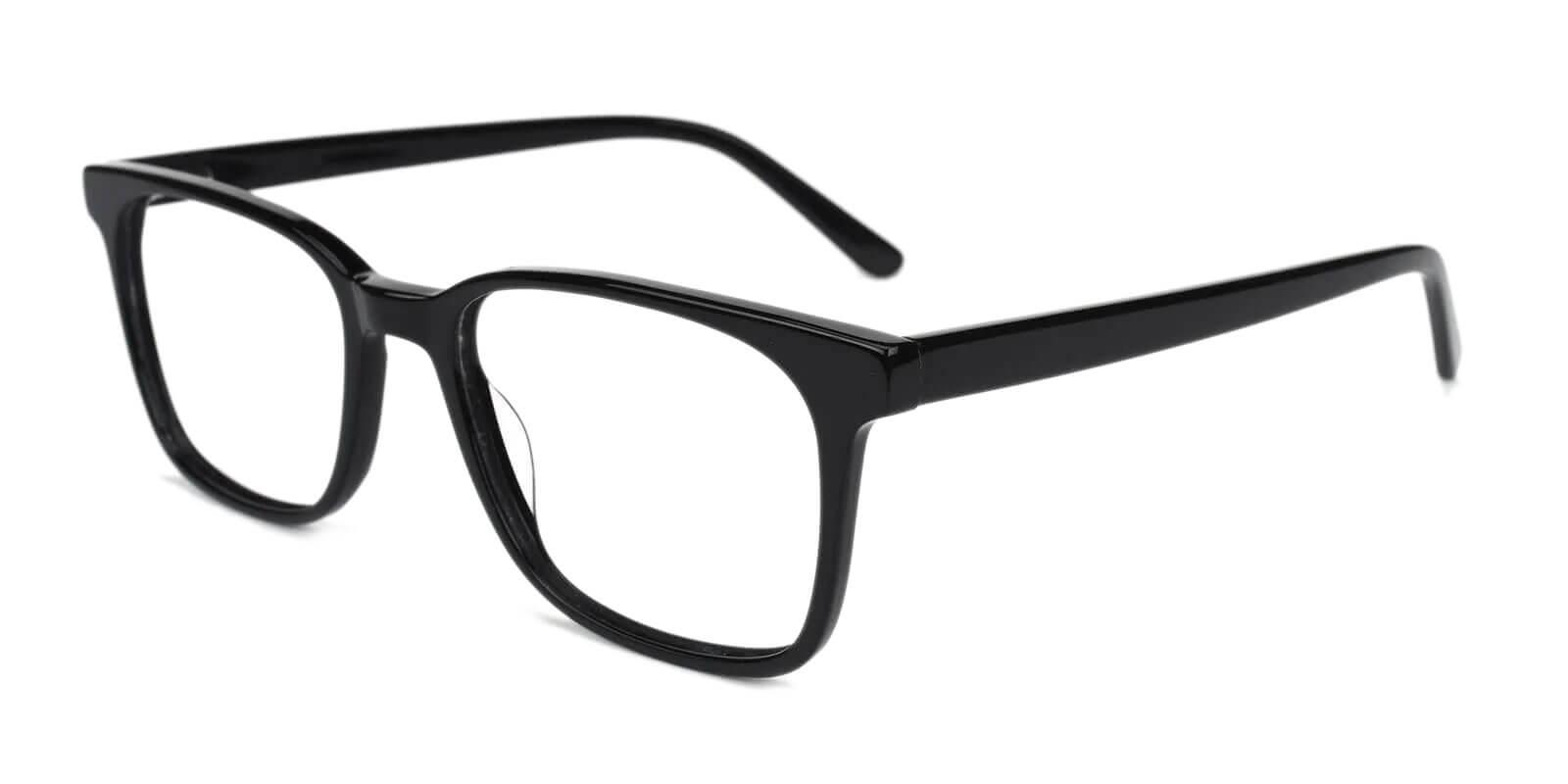 Reverb Black Acetate Eyeglasses , SpringHinges , UniversalBridgeFit Frames from ABBE Glasses