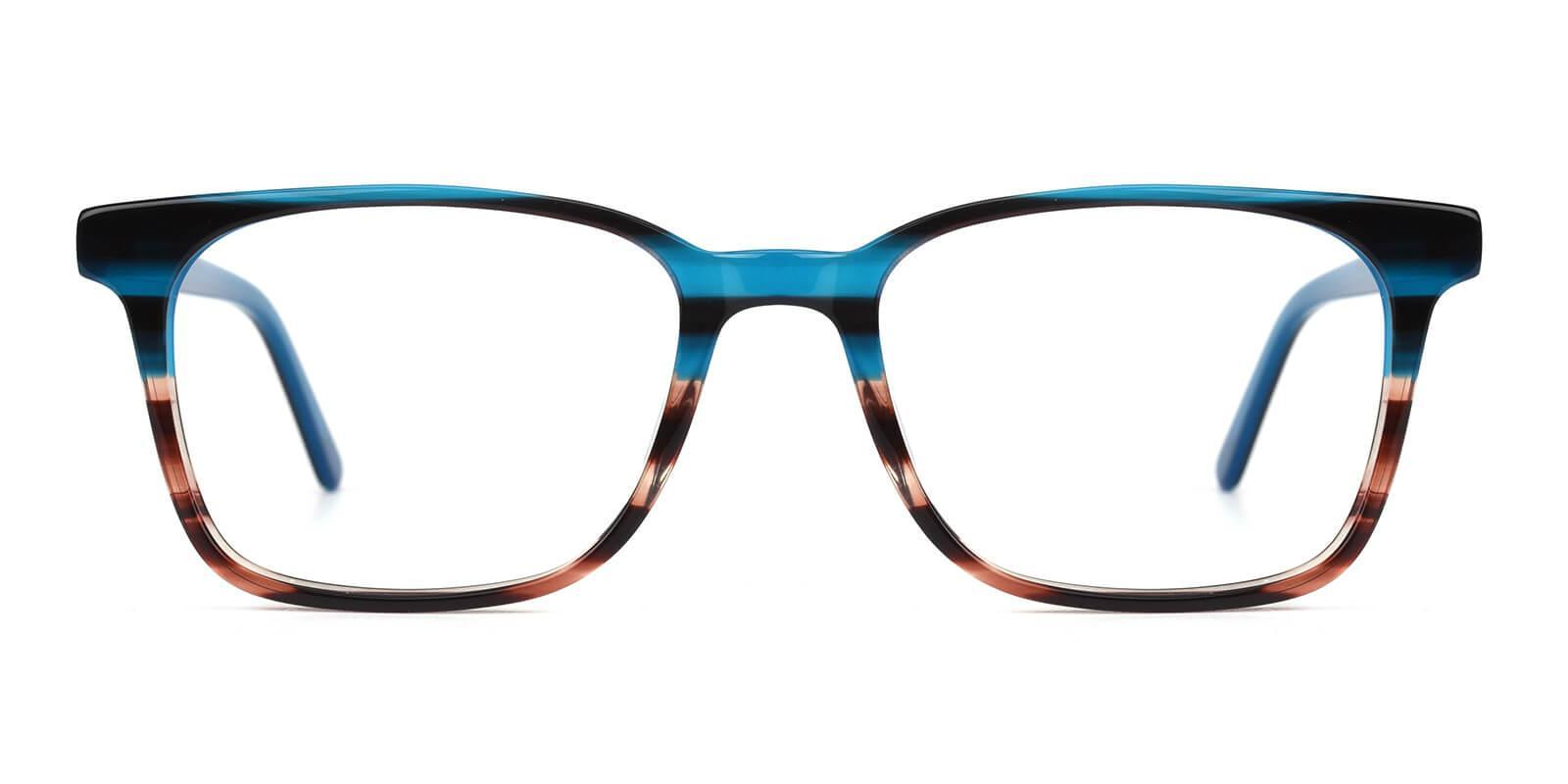 Reverb Blue Acetate Eyeglasses , SpringHinges , UniversalBridgeFit Frames from ABBE Glasses