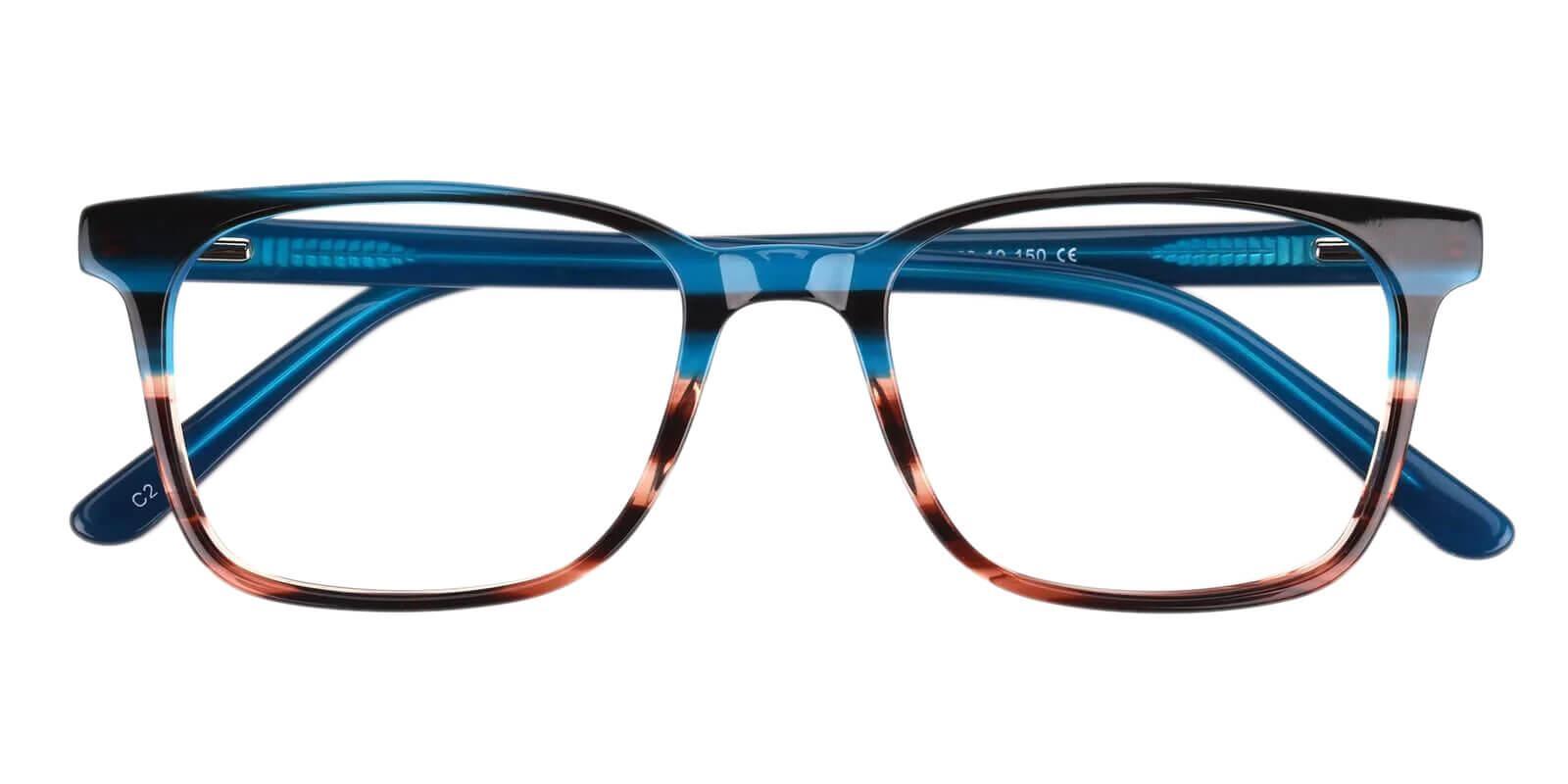 Reverb Blue Acetate Eyeglasses , SpringHinges , UniversalBridgeFit Frames from ABBE Glasses