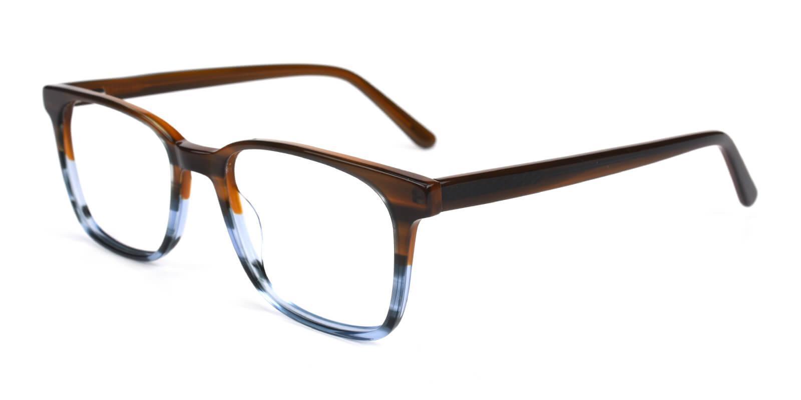 Reverb Brown Acetate Eyeglasses , SpringHinges , UniversalBridgeFit Frames from ABBE Glasses