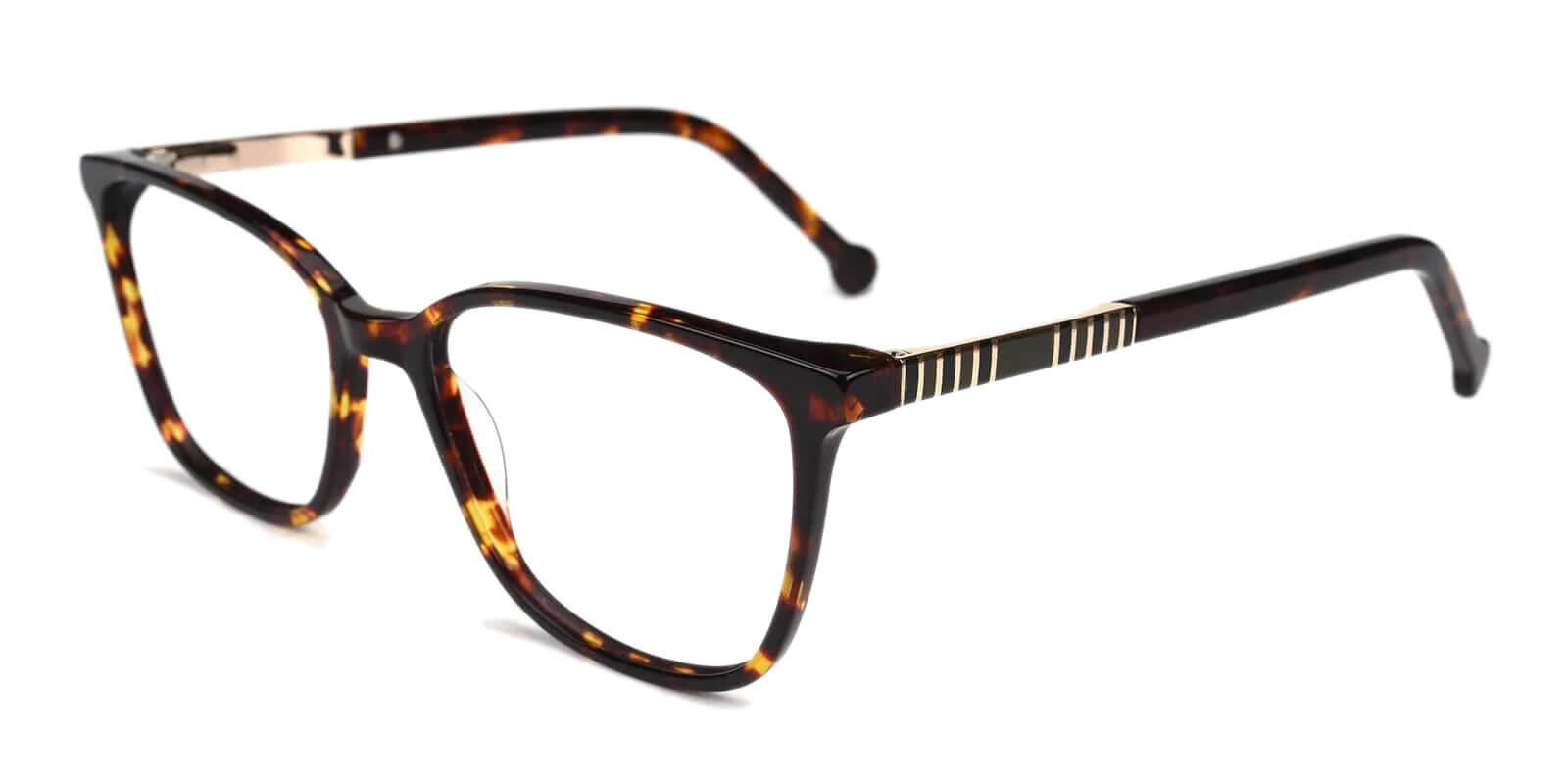 Traverse Tortoise Acetate Eyeglasses , SpringHinges , UniversalBridgeFit Frames from ABBE Glasses