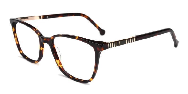 Tortoise Traverse - Acetate Eyeglasses , SpringHinges , UniversalBridgeFit