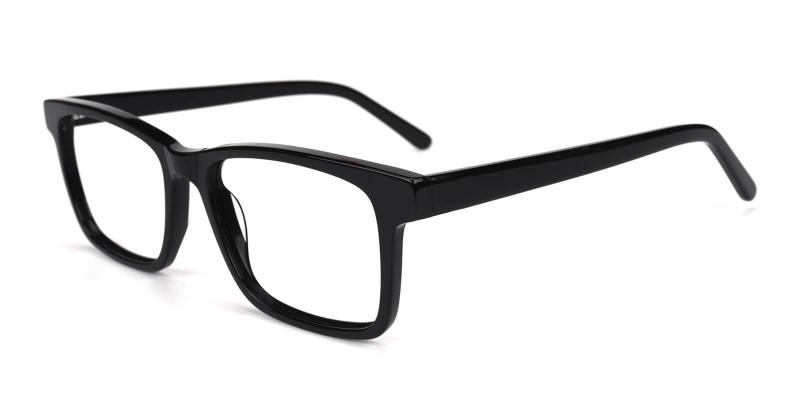 Black Versa - Acetate Eyeglasses , SpringHinges , UniversalBridgeFit