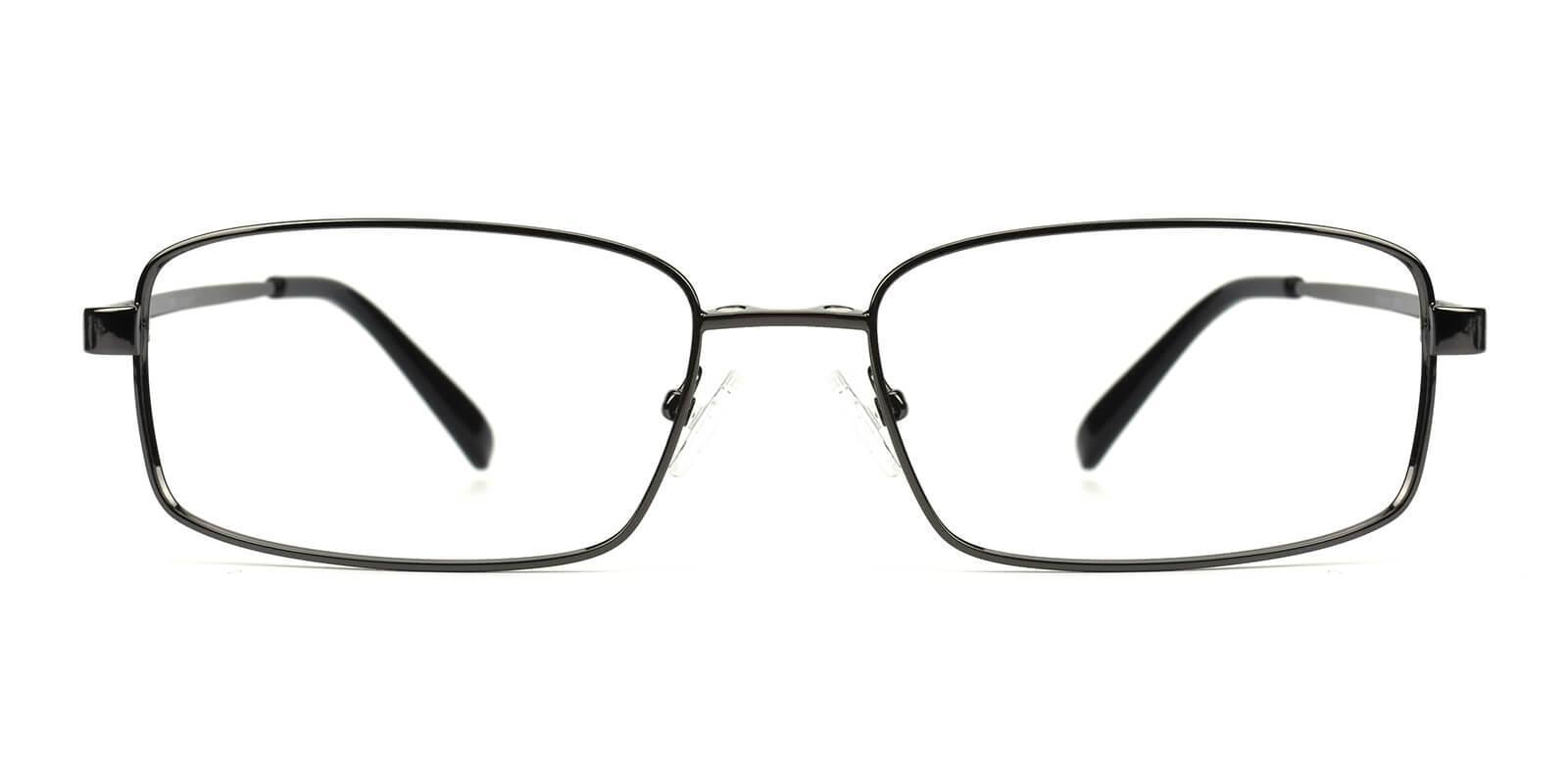 Providence Gun Metal Eyeglasses , NosePads , SpringHinges Frames from ABBE Glasses