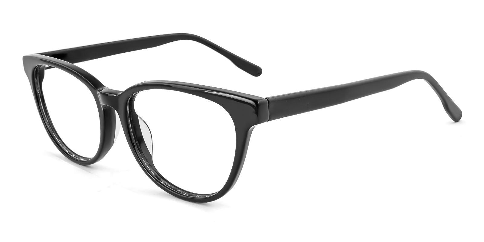 Bouquet Black Acetate Eyeglasses , SpringHinges , UniversalBridgeFit Frames from ABBE Glasses