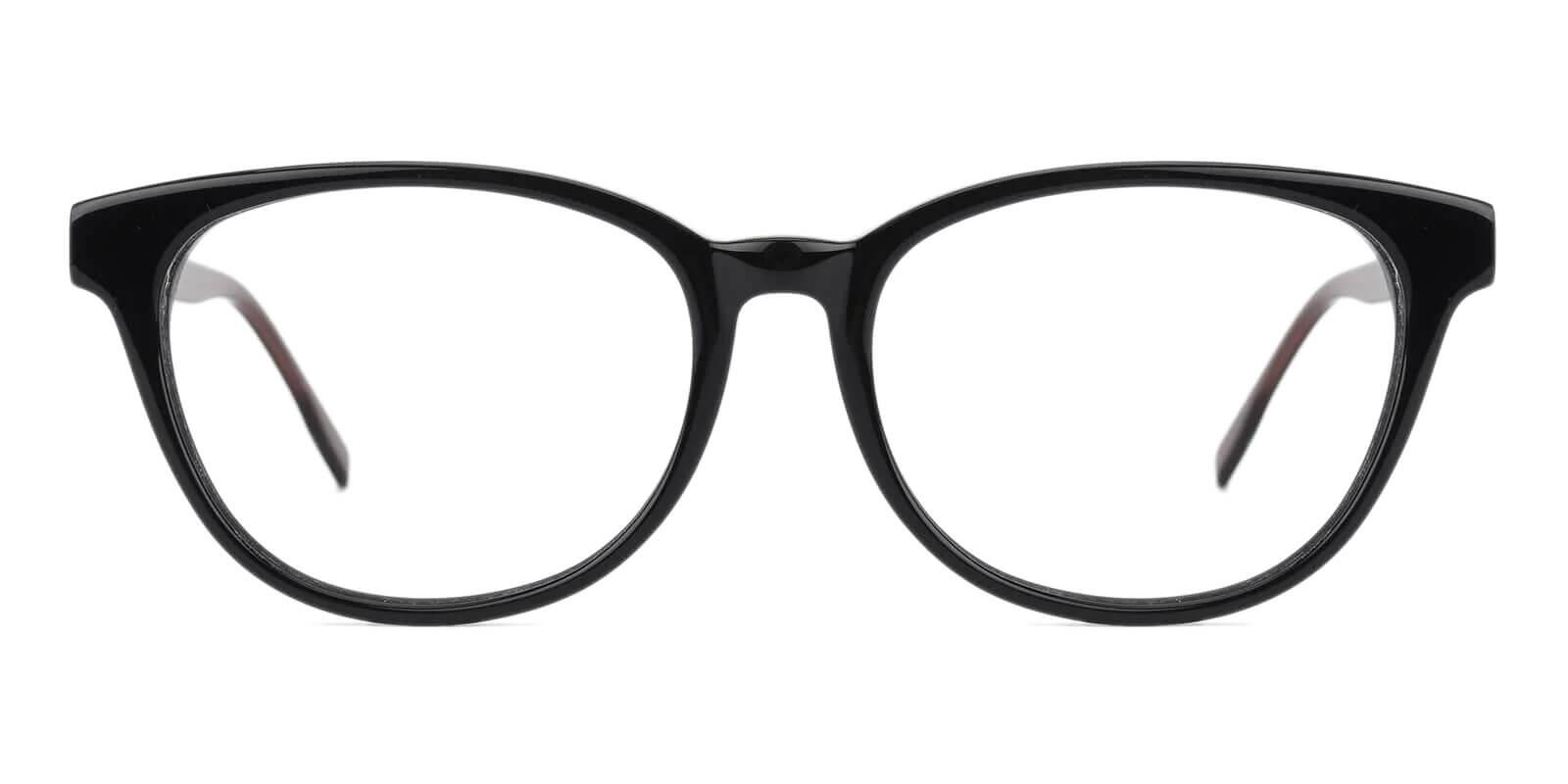 Bouquet Black Acetate Eyeglasses , SpringHinges , UniversalBridgeFit Frames from ABBE Glasses