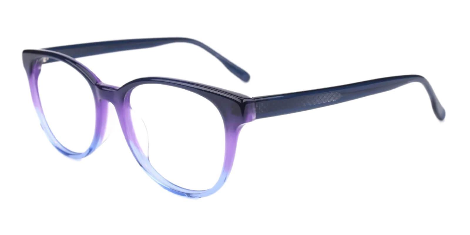 Bouquet Blue Acetate Eyeglasses , SpringHinges , UniversalBridgeFit Frames from ABBE Glasses