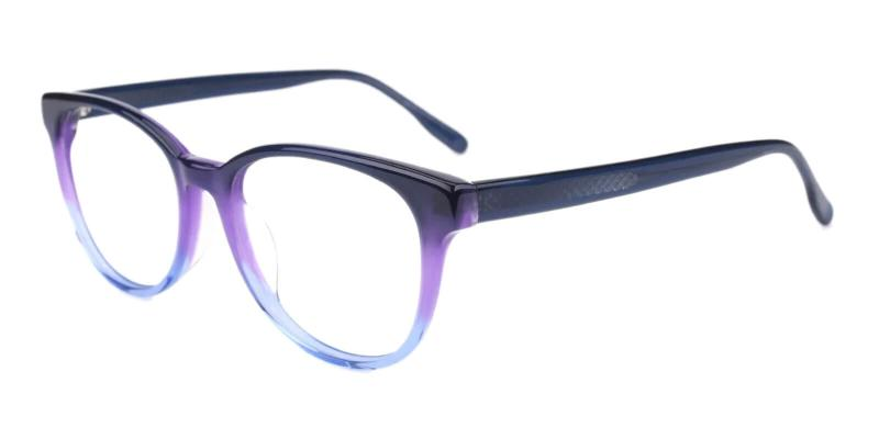 Blue Bouquet - Acetate Eyeglasses , SpringHinges , UniversalBridgeFit