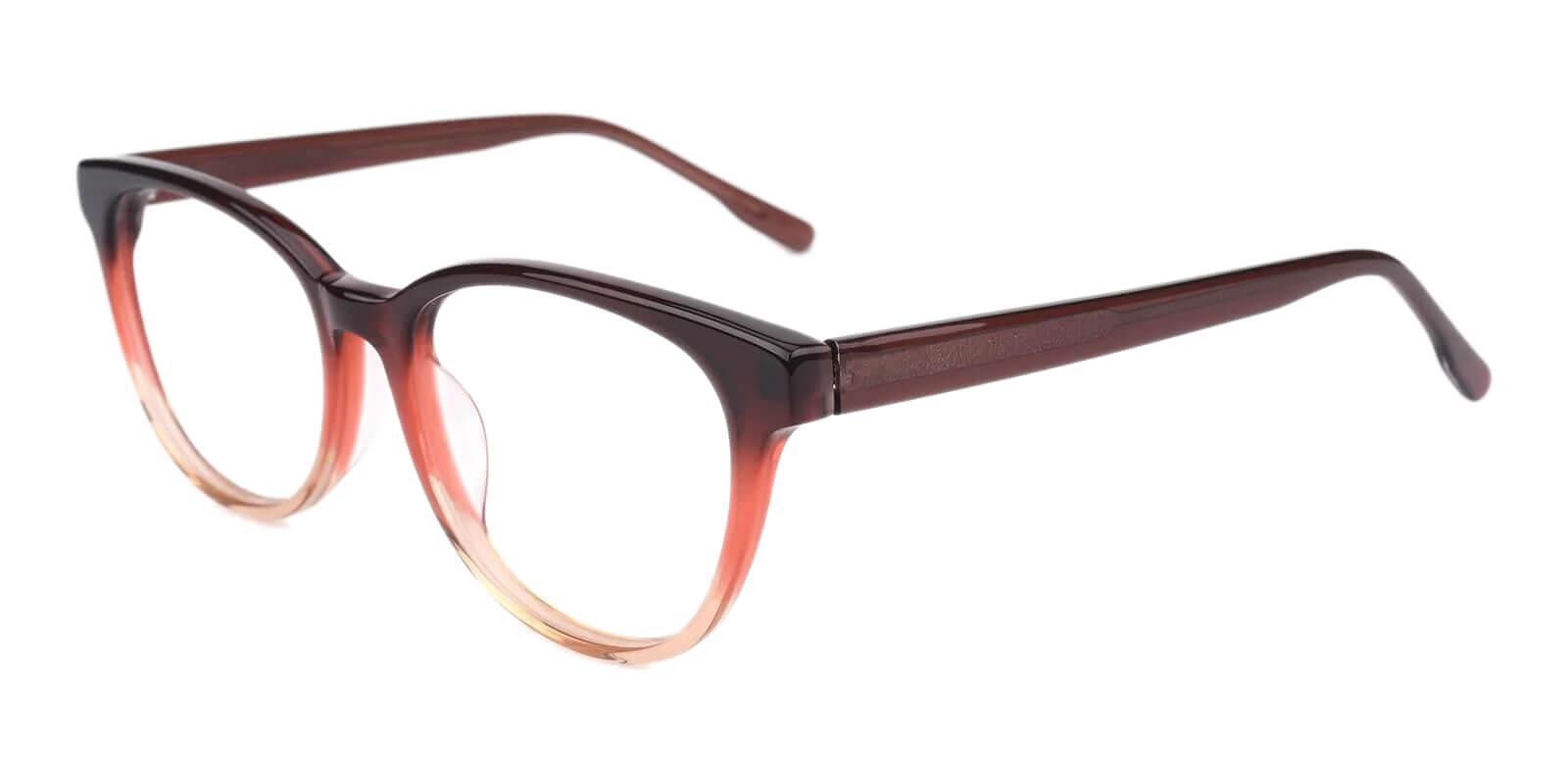 Bouquet Brown Acetate Eyeglasses , SpringHinges , UniversalBridgeFit Frames from ABBE Glasses