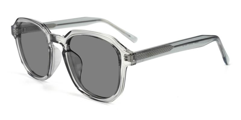 Gray Kasia - Acetate SpringHinges , UniversalBridgeFit , Sunglasses