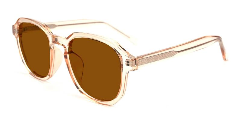 Orange Kasia - Acetate SpringHinges , Sunglasses , UniversalBridgeFit