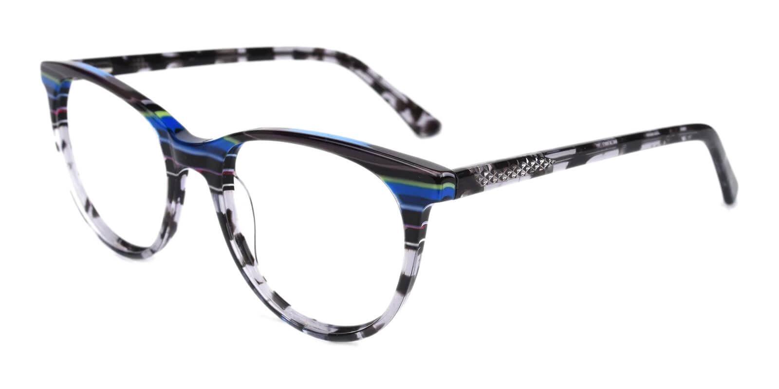 Perceive Black Acetate Eyeglasses , SpringHinges , UniversalBridgeFit Frames from ABBE Glasses