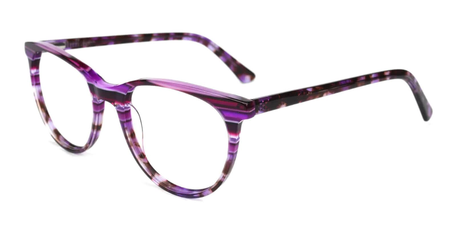 Perceive Purple Acetate Eyeglasses , SpringHinges , UniversalBridgeFit Frames from ABBE Glasses
