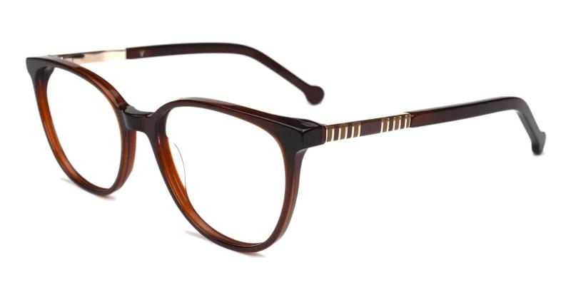 Brown Saunter - Acetate Eyeglasses , SpringHinges , UniversalBridgeFit