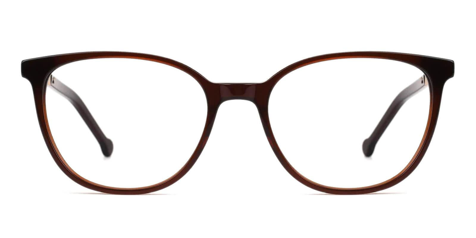 Saunter Brown Acetate Eyeglasses , SpringHinges , UniversalBridgeFit Frames from ABBE Glasses