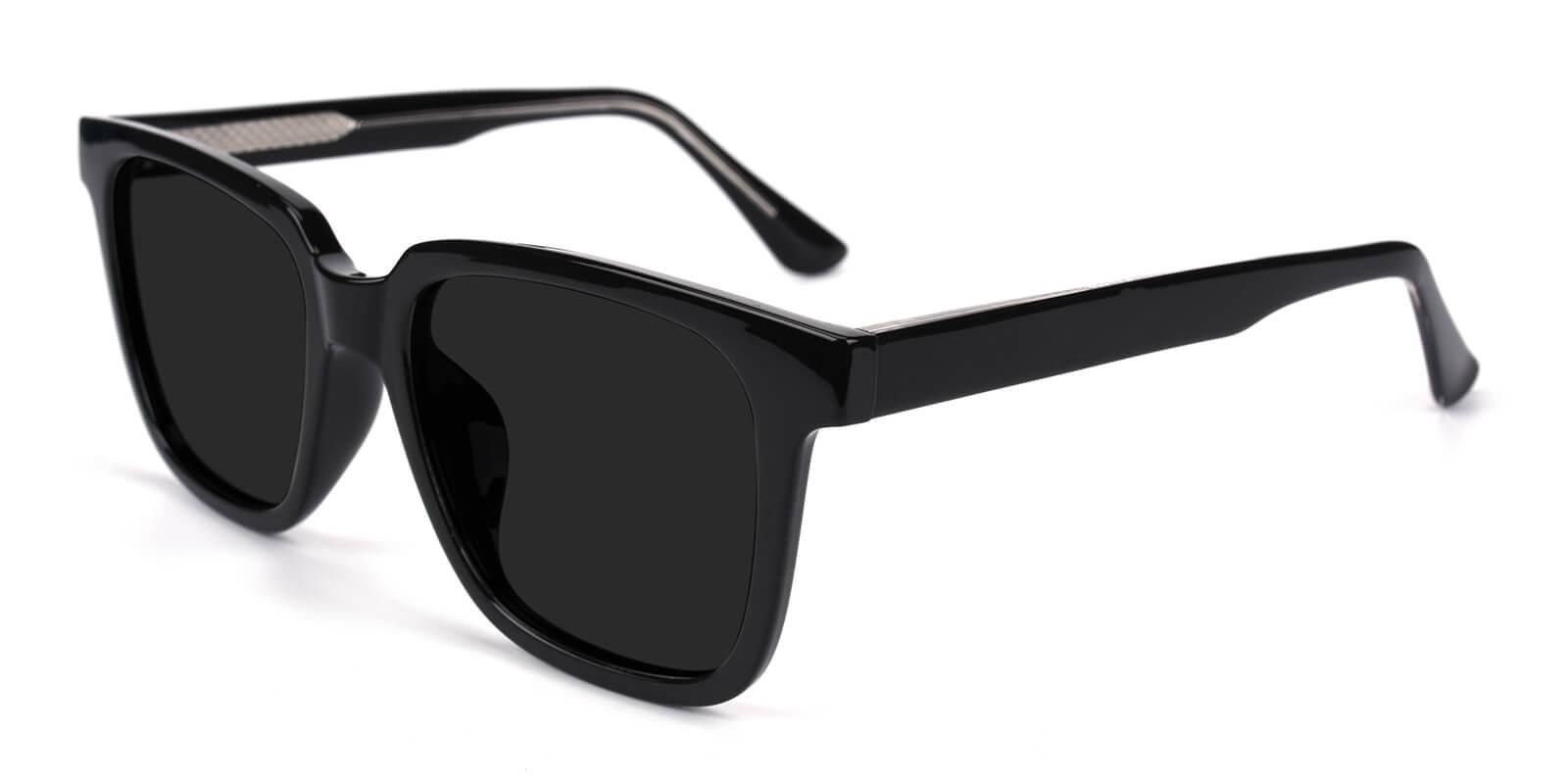Reason Black Acetate SpringHinges , Sunglasses , UniversalBridgeFit Frames from ABBE Glasses