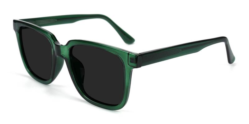 Green Reason - Acetate SpringHinges , Sunglasses , UniversalBridgeFit