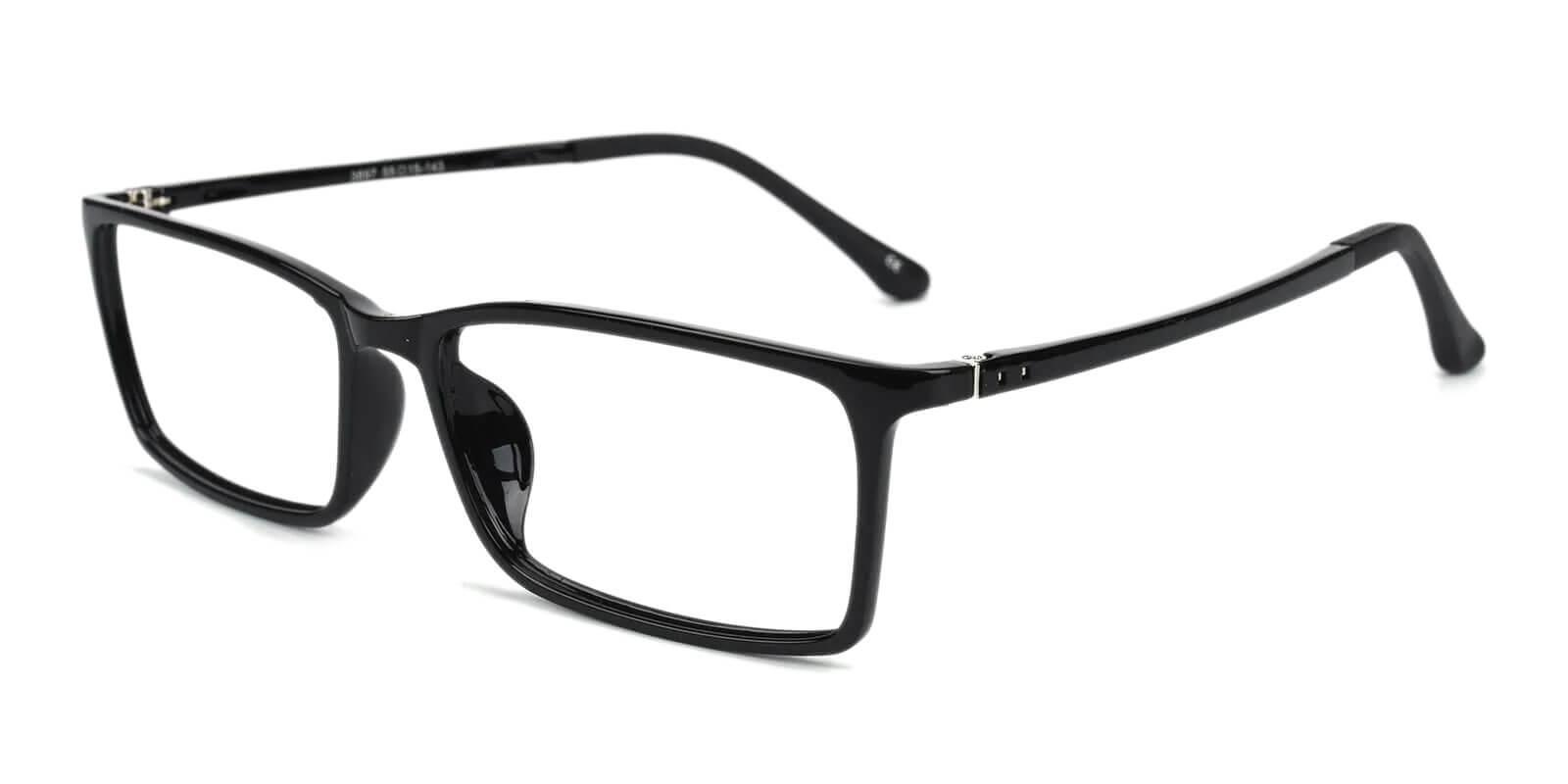 Samson Black TR Eyeglasses , SpringHinges , UniversalBridgeFit Frames from ABBE Glasses