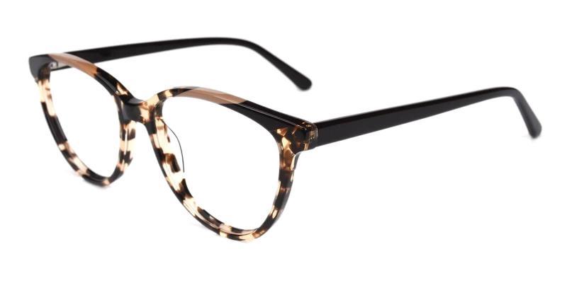 Leopard Joanne - Acetate Eyeglasses , SpringHinges , UniversalBridgeFit