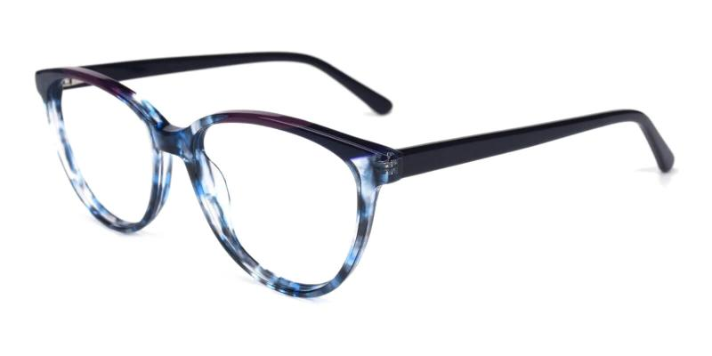 Striped Joanne - Acetate ,Universal Bridge Fit