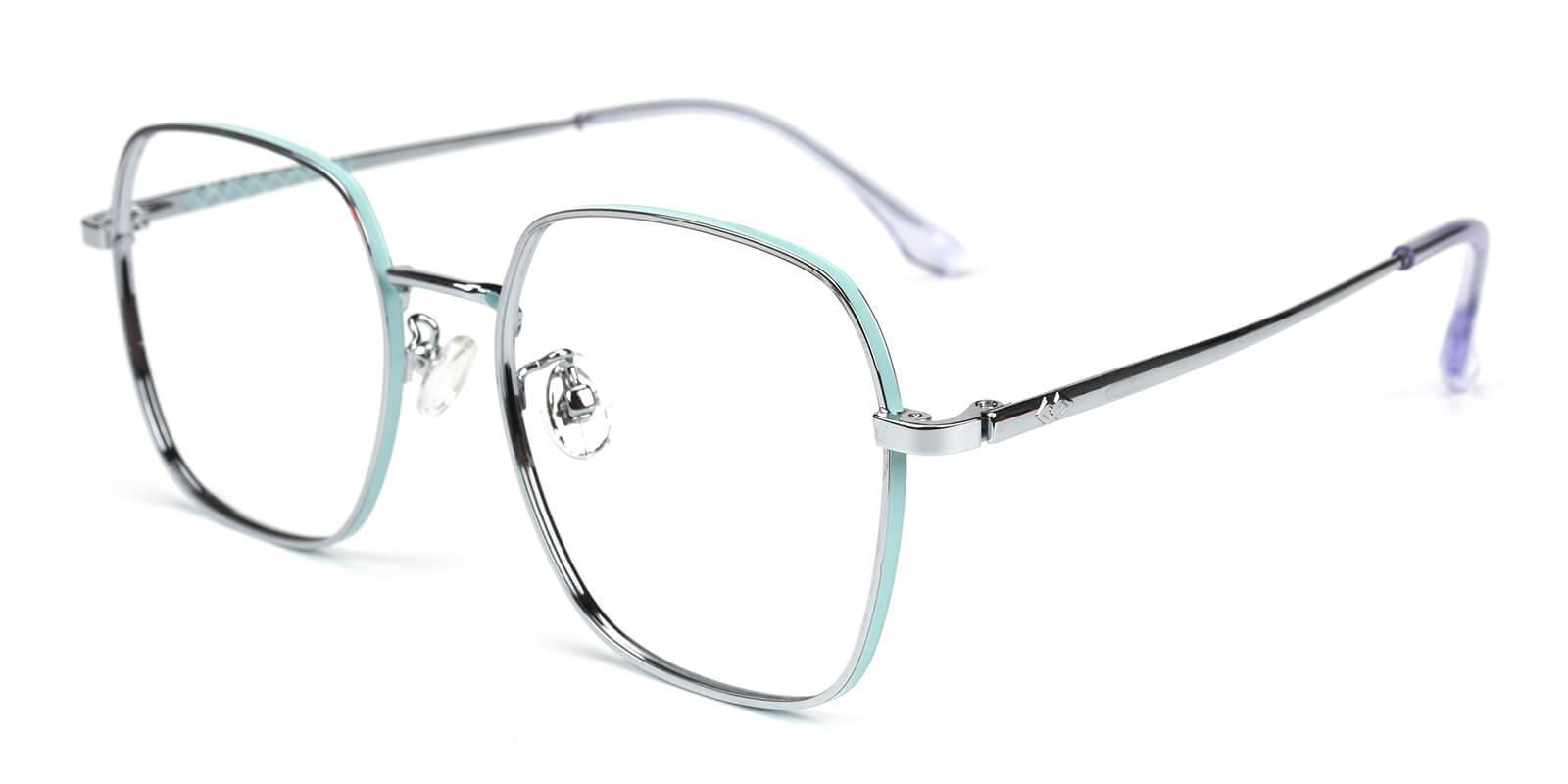Thelma Silver Metal Eyeglasses , NosePads , SpringHinges Frames from ABBE Glasses