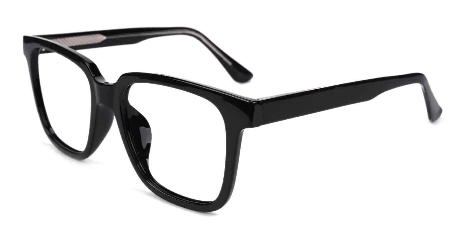 Blossom Black Acetate Eyeglasses , SpringHinges , UniversalBridgeFit Frames from ABBE Glasses