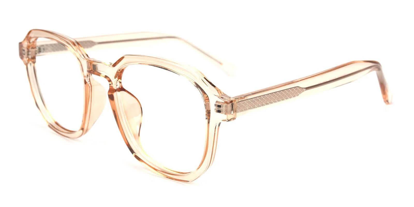Lancet Orange Acetate Eyeglasses , SpringHinges , UniversalBridgeFit Frames from ABBE Glasses