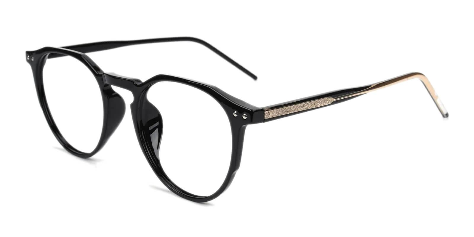 Mariner Black Acetate Eyeglasses , SpringHinges , UniversalBridgeFit Frames from ABBE Glasses