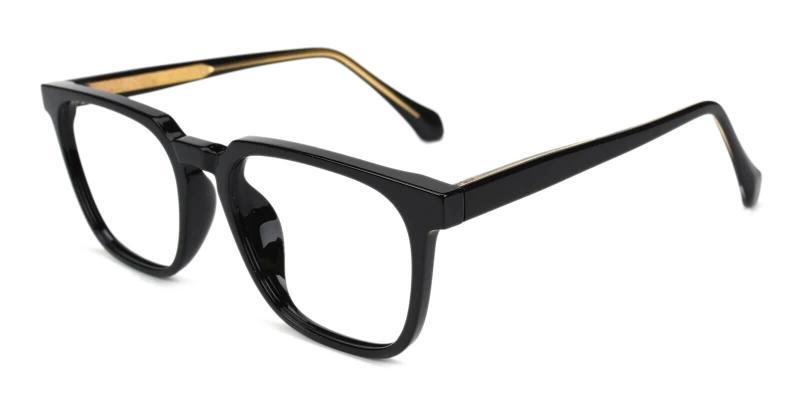 Black Oriana - Acetate Eyeglasses , SpringHinges , UniversalBridgeFit