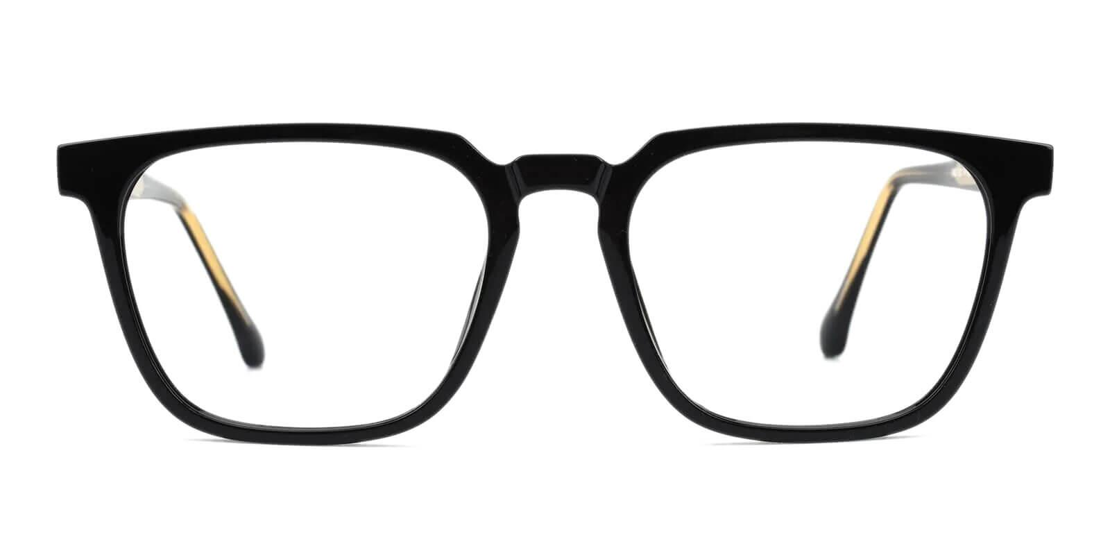 Oriana Black Acetate Eyeglasses , SpringHinges , UniversalBridgeFit Frames from ABBE Glasses